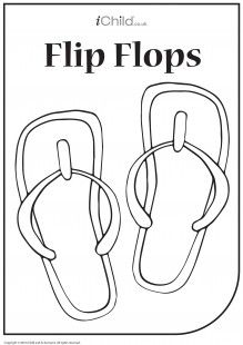 flip flop template for children to colour in or draw themselves
