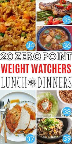 75 Zero Point Weight Watchers Food Ideas - This Tiny Blue House - Delicious, filling and easy ZERO point Weight Watchers lunch and dinner ideas you gotta try - Weight Watchers Lunches, Plats Weight Watchers, Weight Watchers Meal Plans, Weight Watchers Diet, Weight Loss Meals, Ww Recipes, Healthy Recipes, Dinner Recipes, Lunch Recipes