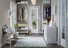 ELVARLI combinatie | IKEA IKEAnederland IKEAnl wooninspiratie inspiratie nieuw opbergen kleding garderobekast kast NORDLI ladekast NORRÅKER bank