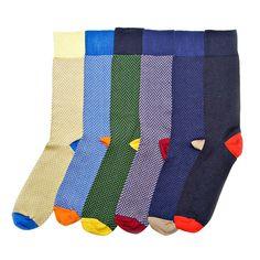 Pima Cotton Herringbone Socks // American Trench