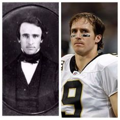Separated at birth?   President Rutherford B Hayes and Drew Brees.