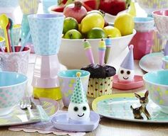 RICE melamine cups, plates and spoons Pastel Colors, Colours, Melamine, Lemon Rice, Plate Sets, Decoration, Pink And Green, Pottery, House Styles