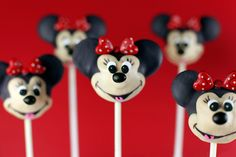 Very Cute! Mickey/Minnie Mouse Pops