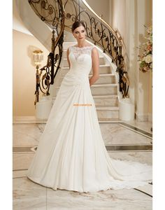 Szyfon Sukienkiweselne Naturalny Suknie ślubne 2012