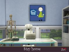 evi's Stay Home Home Themes, Sims Community, Sims Resource, Electronic Art, Sims 4, Workshop, Paintings, Atelier, Paint