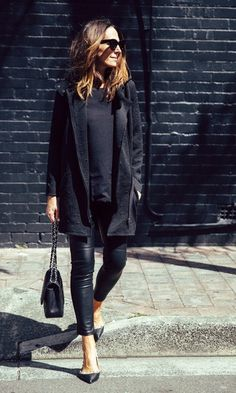 Look Chic com Flat: All Black