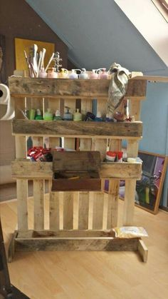 Put wheels on it and use in garage to organize my Crafts,Paint, and Tools