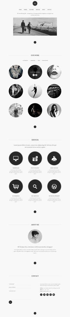 85 best one page wordpress themes 2015  | web design inspiration | digital media arts college | www.dmac.edu | 561.391.1148