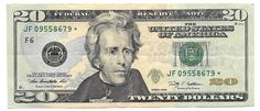 2009 Series Federal Reserve Star * Note US 20 Dollar Bill JF #starnote #papermoney