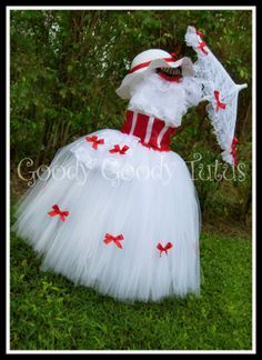 tutu mary poppins - a fantastic visual list of various themed tutu costumes. I am most interested however in turning this Mary Poppin's one into an adult size...