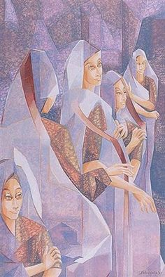 Women in Grey by Jehangir Sabavala