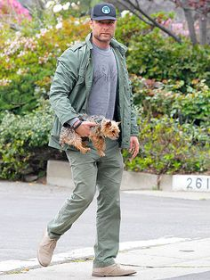 I keep saying walk the dog for exercise. I did not  envisage this but happy to consider LIEV SCHREIBER walking the dog any time after watching Ray Donovan