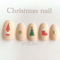 What Christmas manicure to choose for a festive mood - My Nails Xmas Nail Art, Christmas Gel Nails, Christmas Nail Art Designs, Love Nails, Fun Nails, Pretty Nails, Nail Swag, Nail Art Courses, Kawaii Nails