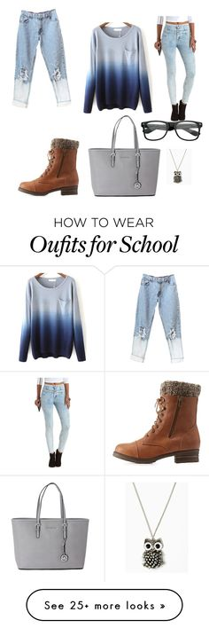 """casual day out or casual day at school"" by tandlshow on Polyvore featuring Charlotte Russe and Michael Kors"
