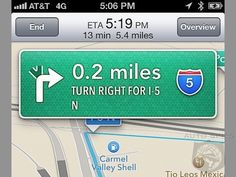 EXCLUSIVE: First iOS6 Turn By Turn Map Screen Photos And Impressions. Will you Miss Google Maps?