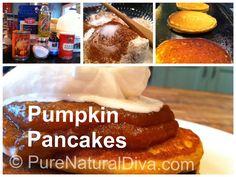 Whole Grain Pumpkin Pancakes - SO GOOD!!! @Pure Natural Diva #pancake ...