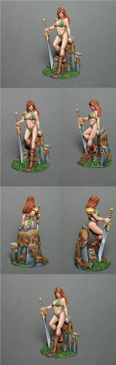 Female Amazon with Bastard Sword - Visions in Fantasy - Miniature Lines