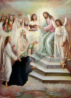 Catholic Art, Angels And Demons, Orthodox Icons, Saints, Photo Wall, Spirituality, Lord, Celestial, Painting