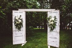 Naida & Georgie by SUZURAN PHOTOGRAPHY / gorgeous rustic wedding doors, styled by A Charming Fete