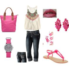 Pink, created by sandy-thompson on Polyvore