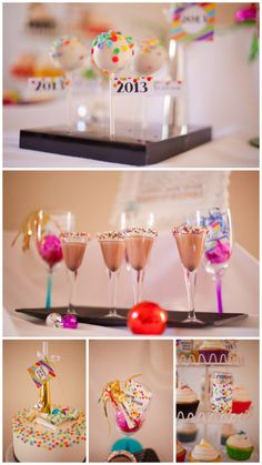 Love sparkles for NYE, but adding a lot of color makes for a more relaxed fun atmosphere!