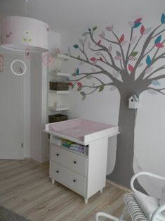 Tree Nursery & # waiting for Madame Klitzeklein ♥ & # - Babyzimmer-Einrichtung Baby Co, Baby Kids, Boy Room, Kids Room, Curtains Childrens Room, Newborn Room, Nursery Decor, Room Decor, Baby Zimmer
