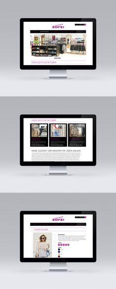 Auftragsarbeit für Moden Zorzi Webdesign www.moden-zorzi.at