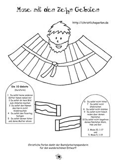 Ten Commandments Moses - Reli - crafts home Bible School Crafts, Sunday School Crafts, Bible Crafts, Germany For Kids, Kids Sunday School Lessons, Moise, Christian Crafts, Ten Commandments, Bible Teachings