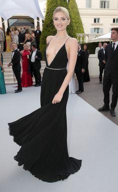Lily Donaldson, in Saint Laurent - #Cannes2015