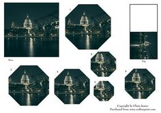 London Thames View of St Pauls Gift Tag Pyrimage Piramid on Craftsuprint - Add To Basket!