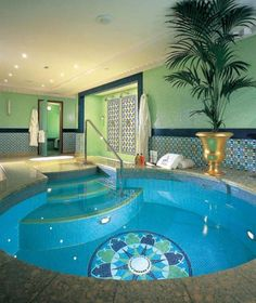 Small Indoor Swimming Pool With Unique Round Design : Unusual ...