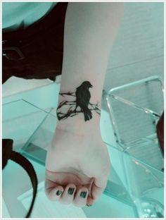 Raven Tattoos hand