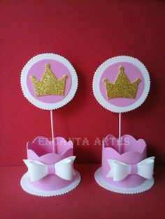 1st Birthday Party For Girls, Baby Party, Disney Princess Centerpieces, Princess Theme Party, Candy Bouquet, Foam Crafts, Baby Boy Shower, Pink And Gold, Crafts For Kids