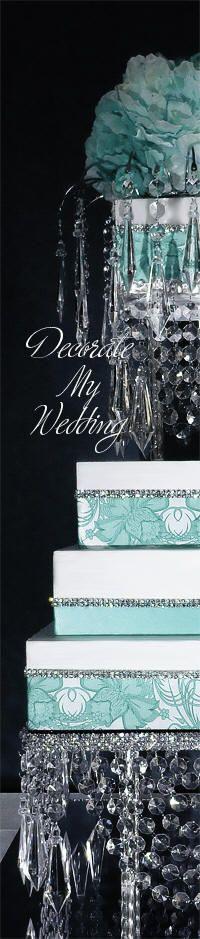 DECORATE MY WEDDING Vintage Crystal Cake Stand