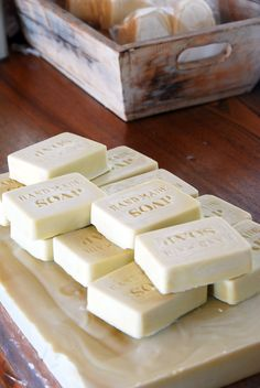 Make your own olive oil soap. Make Your Own, Make It Yourself, How To Make, Olive Oil Soap, Soaps, Goodies, Craft Ideas, Cool Stuff, Random