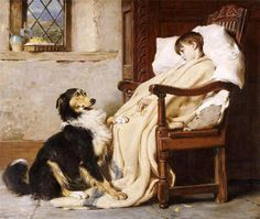 Briton Riviere: Old Playfellows