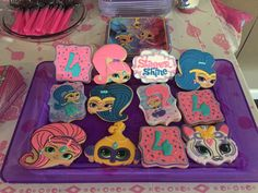 Shimmer and Shine Birthday Party Cookies