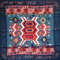 Kilim by Dimitri Rybaltchenko Hermes scarf