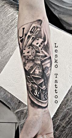 Tattoo Karten Und Würfel In 3d Bald Pinterest Tattoos Card