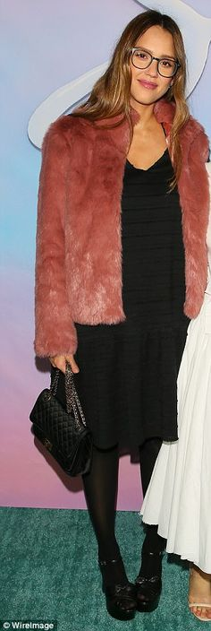 Night out: Pregnant Jessica Alba stepped out Thursday night to attend the LA premiere of t...