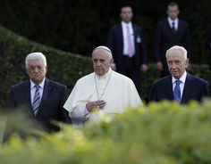 Pope Francis with Abbas and Peres