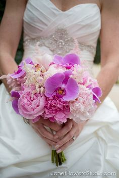 Spring Summer Wedding Bouquets For Your Perfect Wedding Summer Wedding Bouquets, Bride Bouquets, Flower Bouquet Wedding, Purple Wedding, Spring Wedding, Wedding Dresses, Peach Bouquet, Orchid Bouquet, Purple Orchids