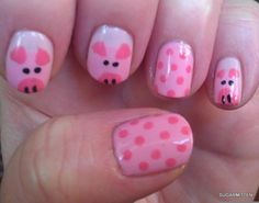 @Andrea Burns Stier  I painted these piggies for Julia and Megan