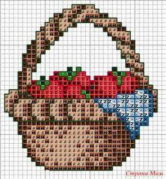 Manualidades y mas: Canastos de frutas en punto de cruz