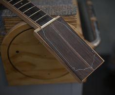 ukulele headstock design | Brazilian Rosewood Tenor Ukulele Construction T47