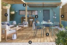 A Courtyard Dressed In Wood Outdoor Wall Lamps, Outdoor Walls, Outdoor Living, Outdoor Decor, Japanese Trends, Diy Straw, Kitchen Blinds, Wooden Slats, Fence Panels