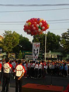 Pembukaan Peringatan HUT ke-69 Kemerdekaan RI tahun 2014 oleh Walikota Semarang dilanjutkan dengan senam bersama dan eksibisi futsal di Jl.Pemuda Semarang tanggal 08 Agustus 2014