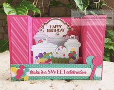 Teen Birthday, Birthday Cards, Happy Birthday, Jars Of Sweets, Bridge Card, Candyland, Folded Cards, Kids Cards, Homemade Cards