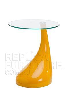 $179Replica_Kugel_Tear_Drop_Fiberglass_Side_Table Clear Glass, Drop, Table, Furniture, Home Decor, Decoration Home, Room Decor, Tables, Home Furnishings