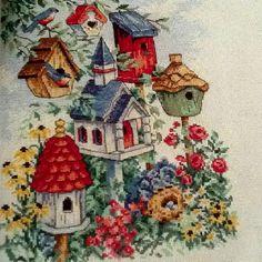 Bird House Cross Stitch